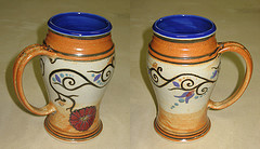 Tankard with Iznik inspired floral decoration